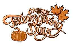 επίσης corel σύρετε το διάνυσμα απεικόνισης Ευτυχές διανυσματικό σχέδιο τυπογραφίας ημέρας των ευχαριστιών για τις ευχετήριες κάρ Στοκ Φωτογραφίες