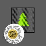 επίσης corel σύρετε το διάνυσμα απεικόνισης Μπορέστε να χρησιμοποιηθείτε για τη ευχετήρια κάρτα, πρόσκληση, έμβλημα, σχέδιο Ιστού Στοκ Εικόνα