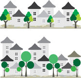 επίσης corel σύρετε το διάνυσμα απεικόνισης Έννοια διαβίωσης πόλεων Στοκ Εικόνα