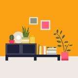 επίσης corel σύρετε το διάνυσμα απεικόνισης Εσωτερικό καθιστικό Στοκ Εικόνες