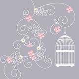 επίσης corel σύρετε το διάνυσμα απεικόνισης Κλουβί πουλιού Στοκ Φωτογραφία