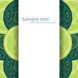 επίσης corel σύρετε το διάνυσμα απεικόνισης Πράσινο υπόβαθρο Mandala Στοκ φωτογραφίες με δικαίωμα ελεύθερης χρήσης