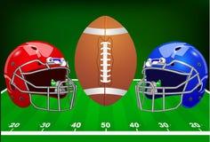 επίσης corel σύρετε το διάνυσμα απεικόνισης Σύνολο αθλητικού εξοπλισμού αμερικανικό ποδόσφαιρο Στοκ Εικόνα