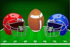 επίσης corel σύρετε το διάνυσμα απεικόνισης Σύνολο αθλητικού εξοπλισμού αμερικανικό ποδόσφαιρο Στοκ Εικόνες