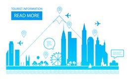 επίσης corel σύρετε το διάνυσμα απεικόνισης landscape urban Υπόβαθρο ακίνητων περιουσιών Σχέδιο Infographic Ημέρα πόλεων Στοκ φωτογραφίες με δικαίωμα ελεύθερης χρήσης