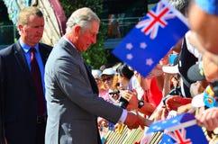 Επίσκεψη Πρίγκηπων της Ουαλίας στο Ώκλαντ Νέα Ζηλανδία Στοκ Εικόνα