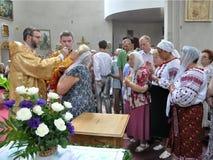 Επίσκεψη στην εκκλησία Sviatoslav Shevchuk_16 κεφαλαίου Chortkiv Στοκ Εικόνες