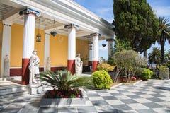 Επίσκεψη στην Κέρκυρα/την Ελλάδα: Castle της αυτοκράτειρας Elisabeth ΙΙ από Στοκ Εικόνες
