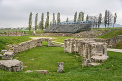 Επίσκεψη στο αρχαιολογικό πάρκο Carnuntum Στοκ Εικόνες