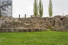 Επίσκεψη στο αρχαιολογικό πάρκο Carnuntum Στοκ Φωτογραφίες