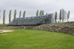 Επίσκεψη στο αρχαιολογικό πάρκο Carnuntum Στοκ εικόνα με δικαίωμα ελεύθερης χρήσης