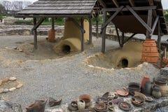 Επίσκεψη στο αρχαιολογικό πάρκο Carnuntum Στοκ Εικόνα