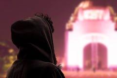 Επίσκεψη στο μνημείο στην επανάσταση στοκ εικόνα