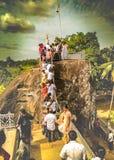 Επίσκεψη του ναού σε Anuradhapura στη Σρι Λάνκα Στοκ εικόνες με δικαίωμα ελεύθερης χρήσης