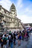 Επίσκεψη Angkor Wat Στοκ εικόνα με δικαίωμα ελεύθερης χρήσης