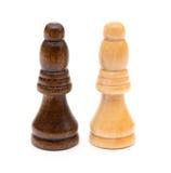 Επίσκοπος σκακιού στο λευκό Στοκ φωτογραφία με δικαίωμα ελεύθερης χρήσης