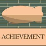 Επίτευγμα γραψίματος κειμένων γραφής Έννοια που σημαίνει το πράγμα που γίνεται επιτυχώς με την ικανότητα προσπάθειας ή τη νίκη θά διανυσματική απεικόνιση