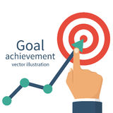 Επίτευγμα στόχου Επιχείρηση φιλοδοξίας διανυσματική απεικόνιση