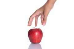 Επίτευξη για την κόκκινη Apple Ι Στοκ Εικόνες