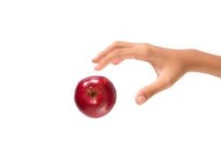 Επίτευξη για την κόκκινη Apple ΧΙ Στοκ εικόνα με δικαίωμα ελεύθερης χρήσης