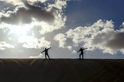 Επίτευξη στην κορυφή Στοκ Φωτογραφίες