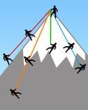 Επίτευξη της κορυφής Στοκ εικόνες με δικαίωμα ελεύθερης χρήσης
