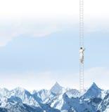 Επίτευξη της κορυφής Στοκ Εικόνες