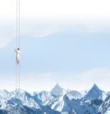 Επίτευξη της κορυφής Στοκ φωτογραφία με δικαίωμα ελεύθερης χρήσης