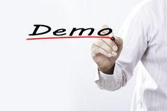 Επίδειξη γραψίματος χεριών επιχειρηματιών με το δείκτη, επιχείρηση concep Στοκ φωτογραφίες με δικαίωμα ελεύθερης χρήσης