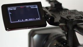Επίδειξη καταγραφής καμερών ταινιών απόθεμα βίντεο