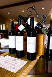 Επίδειξη μπουκαλιών κρασιού Στοκ εικόνες με δικαίωμα ελεύθερης χρήσης