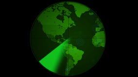 Επίδειξη οθονών ραντάρ διανυσματική απεικόνιση
