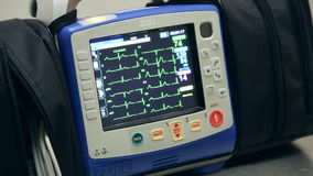 Επίδειξη οθόνης ECG απόθεμα βίντεο