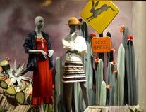 Επίδειξη παραθύρων σε Anthropologie σε NYC, ΗΠΑ Στοκ εικόνα με δικαίωμα ελεύθερης χρήσης