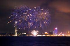 Επίδειξη πυροτεχνημάτων του Μακάο στοκ φωτογραφίες