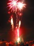 Επίδειξη πυροτεχνημάτων Στοκ εικόνα με δικαίωμα ελεύθερης χρήσης