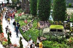 Επίδειξη στο θόλο λουλουδιών, κήποι από τον κόλπο Στοκ φωτογραφία με δικαίωμα ελεύθερης χρήσης