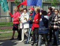 Επίδειξη την 1η Μαΐου Στοκ εικόνες με δικαίωμα ελεύθερης χρήσης