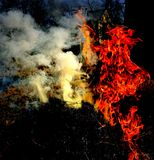Επίδειξη του πνεύματος της πυρκαγιάς Στοκ Εικόνες