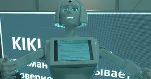 Επίδειξη του υποστηρικτή ρομπότ στη ρομποτική EXPO, Μόσχα απόθεμα βίντεο