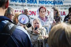 Επίδειξη των μητέρων του Plaza de Mayo στο Μπουένος Άιρες Στοκ φωτογραφίες με δικαίωμα ελεύθερης χρήσης