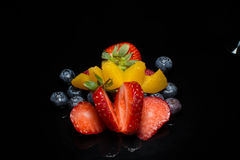 Επίδειξη φραουλών στοκ εικόνα με δικαίωμα ελεύθερης χρήσης