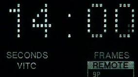Επίδειξη Timecode και παρεμβολή της ταινίας απόθεμα βίντεο
