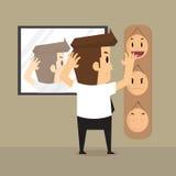 Επίλεκτη μάσκα επιχειρηματιών στην εργασία ημερησίως ελεύθερη απεικόνιση δικαιώματος