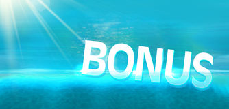 Επίδομα που βουτά στον μπλε ωκεανό ελεύθερη απεικόνιση δικαιώματος