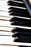 Επίδραση θαμπάδων προοπτικής κινηματογραφήσεων σε πρώτο πλάνο κουμπιών πιάνων Στοκ Εικόνα