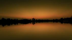 Επίδραση ισορροπίας νερού ουρανού Στοκ Φωτογραφίες