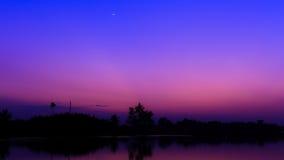 Επίδραση ισορροπίας νερού ουρανού Στοκ Φωτογραφία