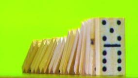 Επίδραση ντόμινο, φραγμοί που αφορά την πράσινη οθόνη απόθεμα βίντεο