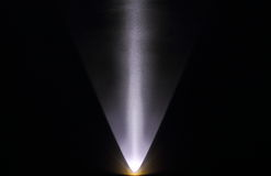 Επίδραση - φως που δείχνεται ενάντια σε έναν τοίχο στοκ φωτογραφία με δικαίωμα ελεύθερης χρήσης